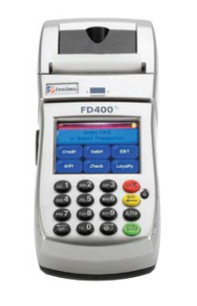 First Data FD400Ti CDMA Wireless Credit Card Terminal -- Verizon