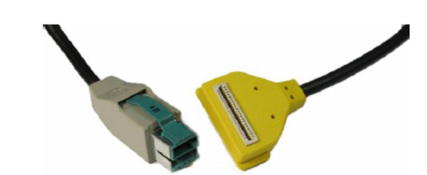 VeriFone MX8XX / 7000 Ethernet to PC USB Cable (Yellow)