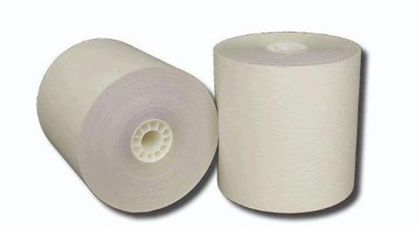 "3"" x 100' 2 Ply Carbonless Paper Rolls"