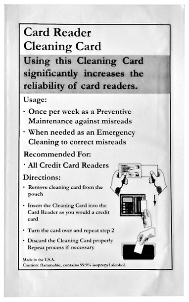 Credit Card / ATM  Reader Cleaning Card