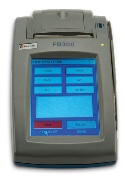 First Data FD300 Credit Card Terminal (Refurbished)