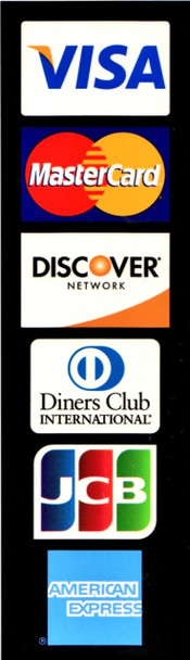 Visa / MasterCard / Discover /AMEX / JCB / Diners Club Decal / Sticker