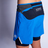 Man wearing Ultimate Direction Men's Hydro Short, rear view, without water bottles