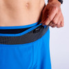 Close up of Ultimate Direction Men's Hydro Short, showing adjustable nylon waist belt