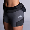Woman wearing Ultimate Direction Women's Hydro Skin Short, front view
