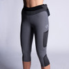 Woman wearing Ultimate Direction Women's Hydro 3/4 Tight, front view