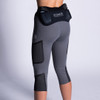 Woman wearing Ultimate Direction Women's Hydro 3/4 Tight, rear view