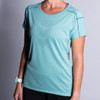 Woman wearing Ultimate Direction Women's Ultralight Tee, front view