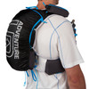 Close up of man wearing Ultimate Direction Adventure Vest 5.0, rear view