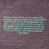 Athlete quote from Ultimate Direction Women's Casual Tee, Vintage Purple
