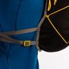 Ultimate Direction 2020 FKT Vest, gray, close up of side adjustment straps, shown on mannequin