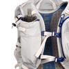 Close up of Ultimate Direction FastpackHer 20, showing water bottle pocket