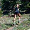 Woman running in Ultimate Direction Women's Nimbus Tee