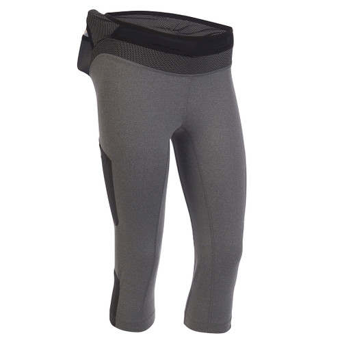 Heather Gray - Ultimate Direction Women's Hydro 3/4 Tight, front view