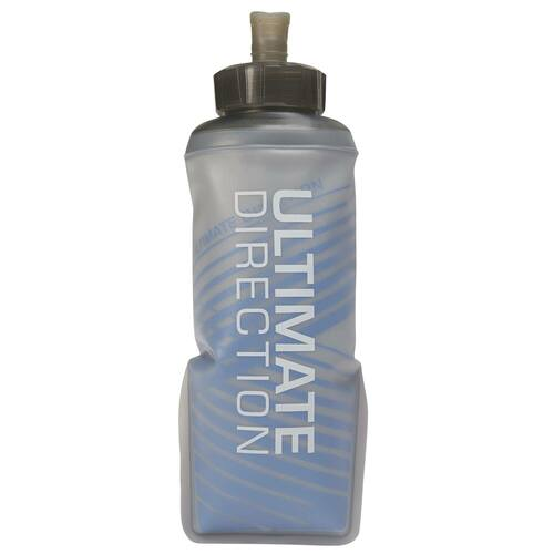 Ultimate Direction Body Bottle 500 Insulated, gray, front view