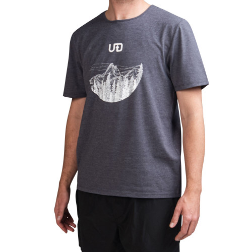 Grey - Ultimate Direction Men's Casual Tee, front view