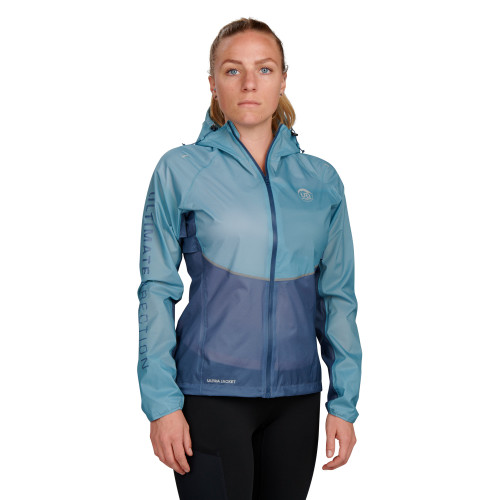 Ultimate Direction Women's Ultra Jacket, blue, front view