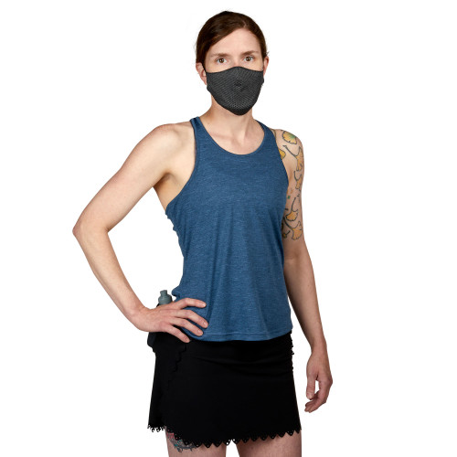 Slate Blue - Ultimate Direction Women's Contralis Tank, front view