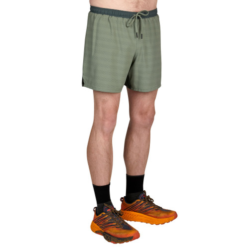Camo Green - Ultimate Direction Men's Stratus Short, front view