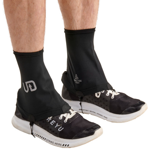 Ultimate Direction Ultra Gaiter on Running Shoes covering ankles