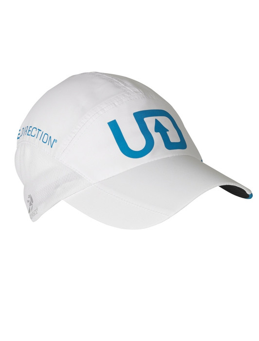 Ultimate Direction Ultralight Hat, white/blue, left side