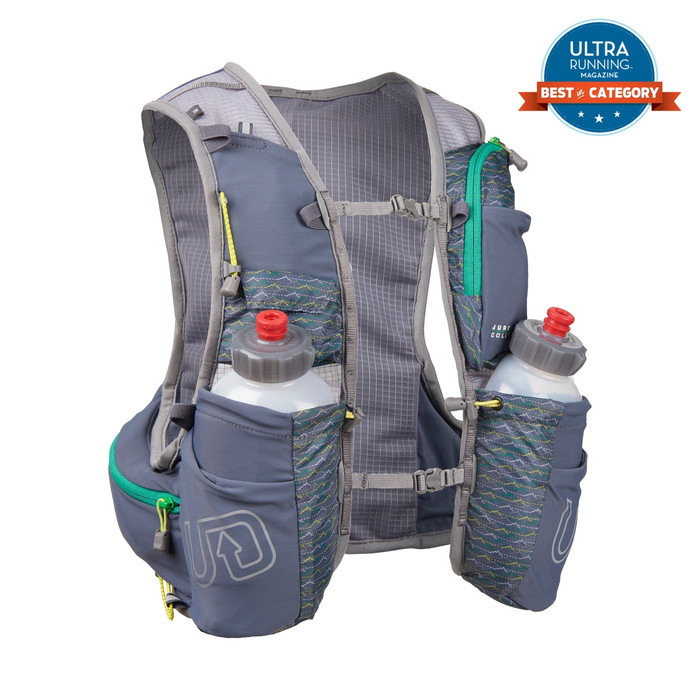 Ultimate Direction Jurek FKT Vest, gray, rear view