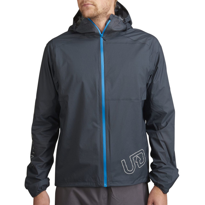 Man wearing gray Men's Ultra Jacket V2, front view