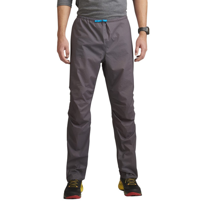 Man wearing Ultimate Direction Men's Ultra Pant V2, gray, front view