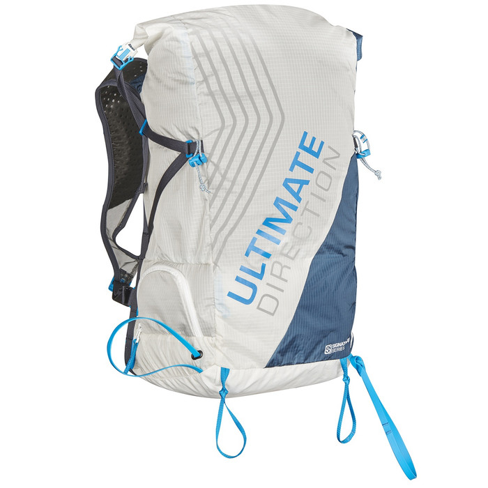 Ultimate Direction SkiMo Adventure Vest, white/blue, front view