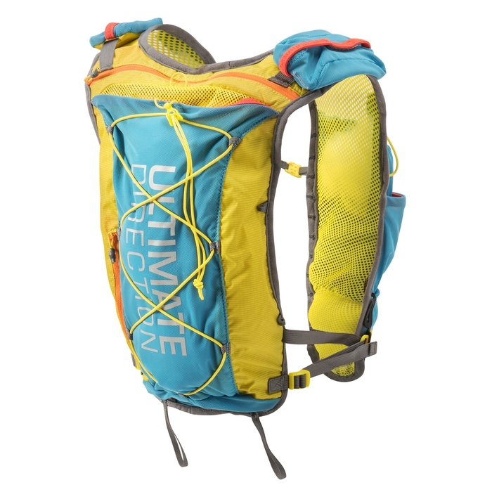 Ultimate Direction North Vest, blue/yellow, front view
