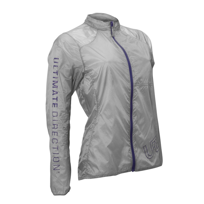 Ultimate Direction Women's Moonlight Jacket, gray, front view