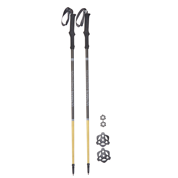 Ultimate Direction FK Trekking Poles, shown with 2 sets of baskets