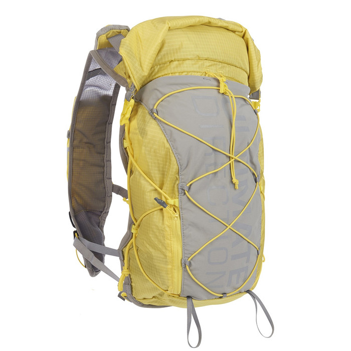 Ultimate Direction FKT Vest, yellow/gray, front view