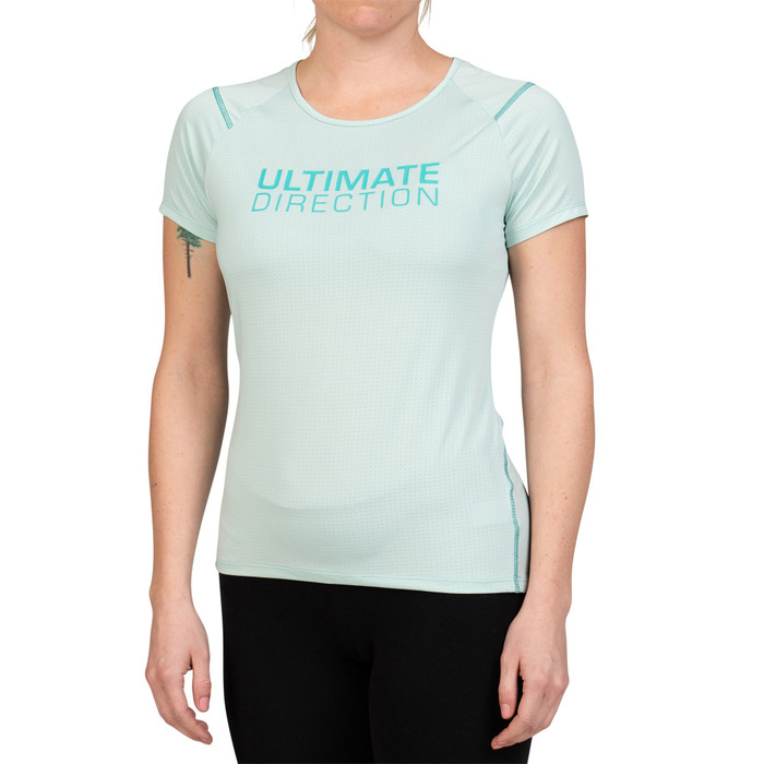 Lichen - Ultimate Direction Women's Tech Tee, front view