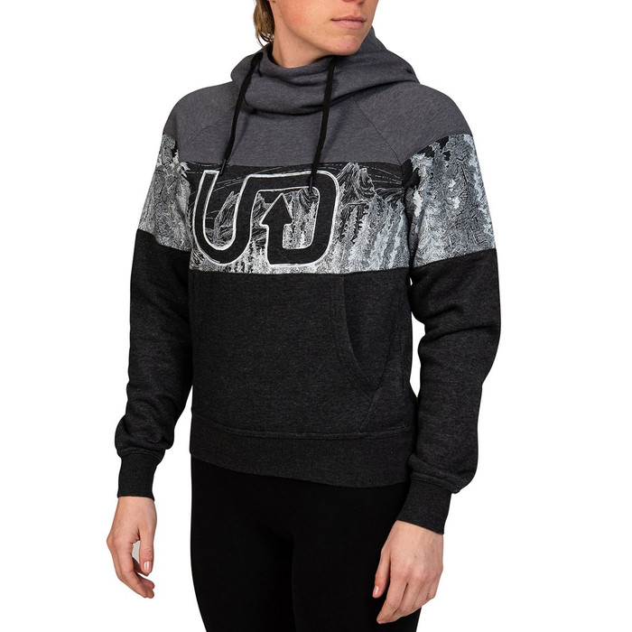 Ultimate Direction Women's Hoodie, grey/black, front view