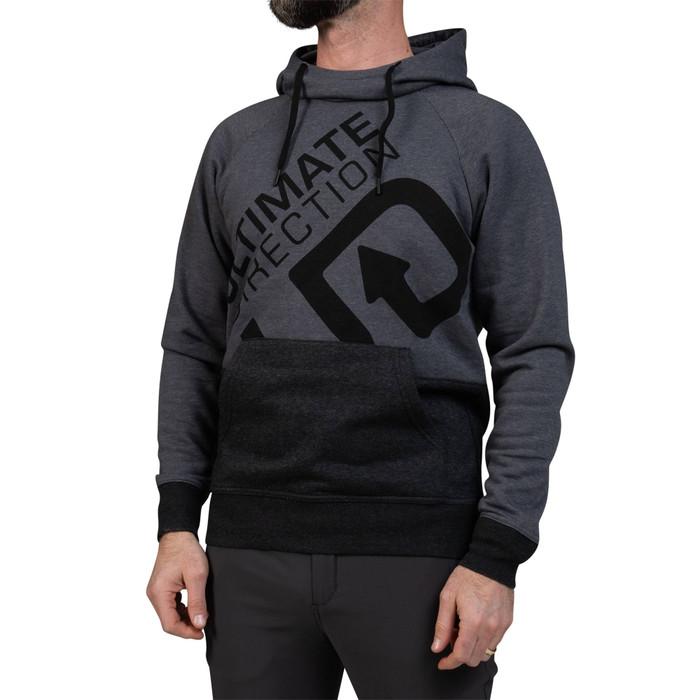 Ultimate Direction Men's Hoodie, grey/black, front view