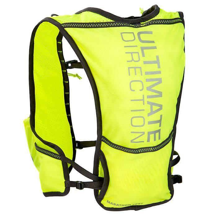 Ultimate Direction Marathon Vest V2 High Beam, high-vis yellow, front view