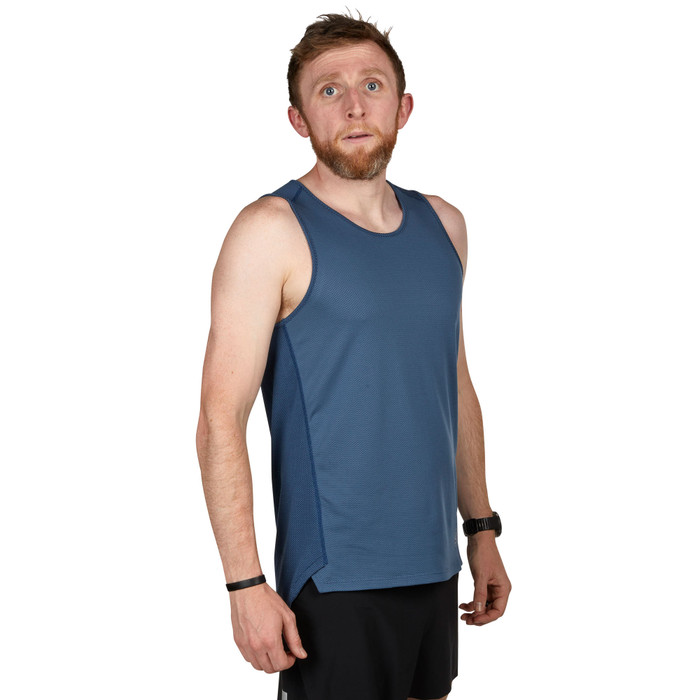 Slate Blue - Ultimate Direction Men's Cumulus Tank, front view