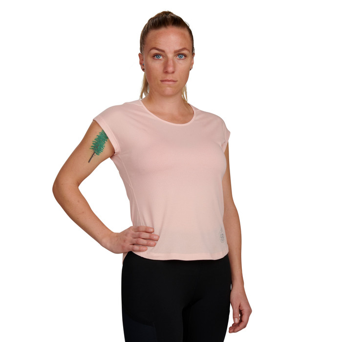 Millennial Pink - Ultimate Direction Women's Nimbus Tee, front view