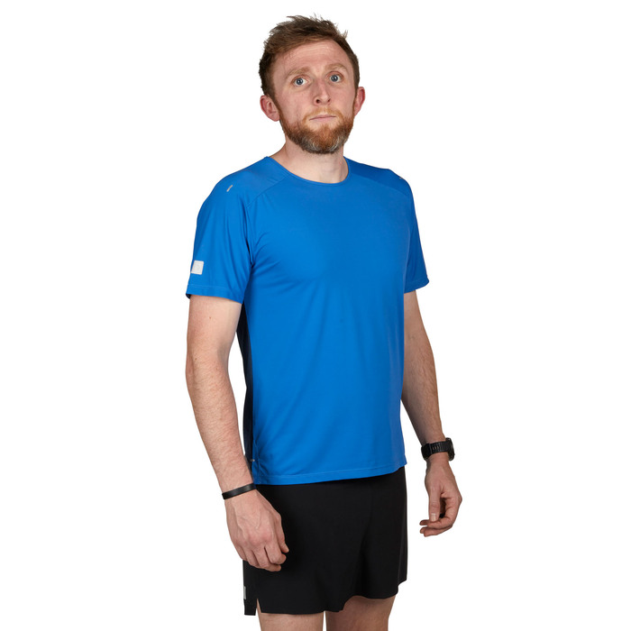 Cobalt - Ultimate Direction Men's Cirriform Tee, front view