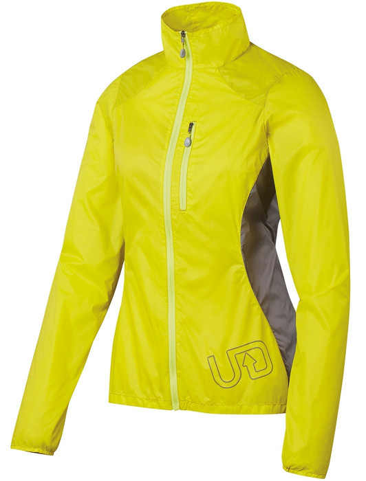 Ultimate Direction Women's Marathon Shell, yellow, front view