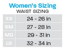 women's waist sizing chart