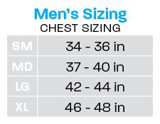 men's chest sizing chart