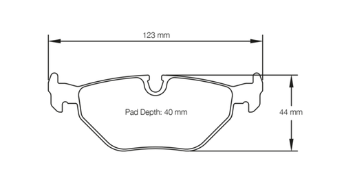 PAGID RACING BRAKE PAD SHAPE NO.1285