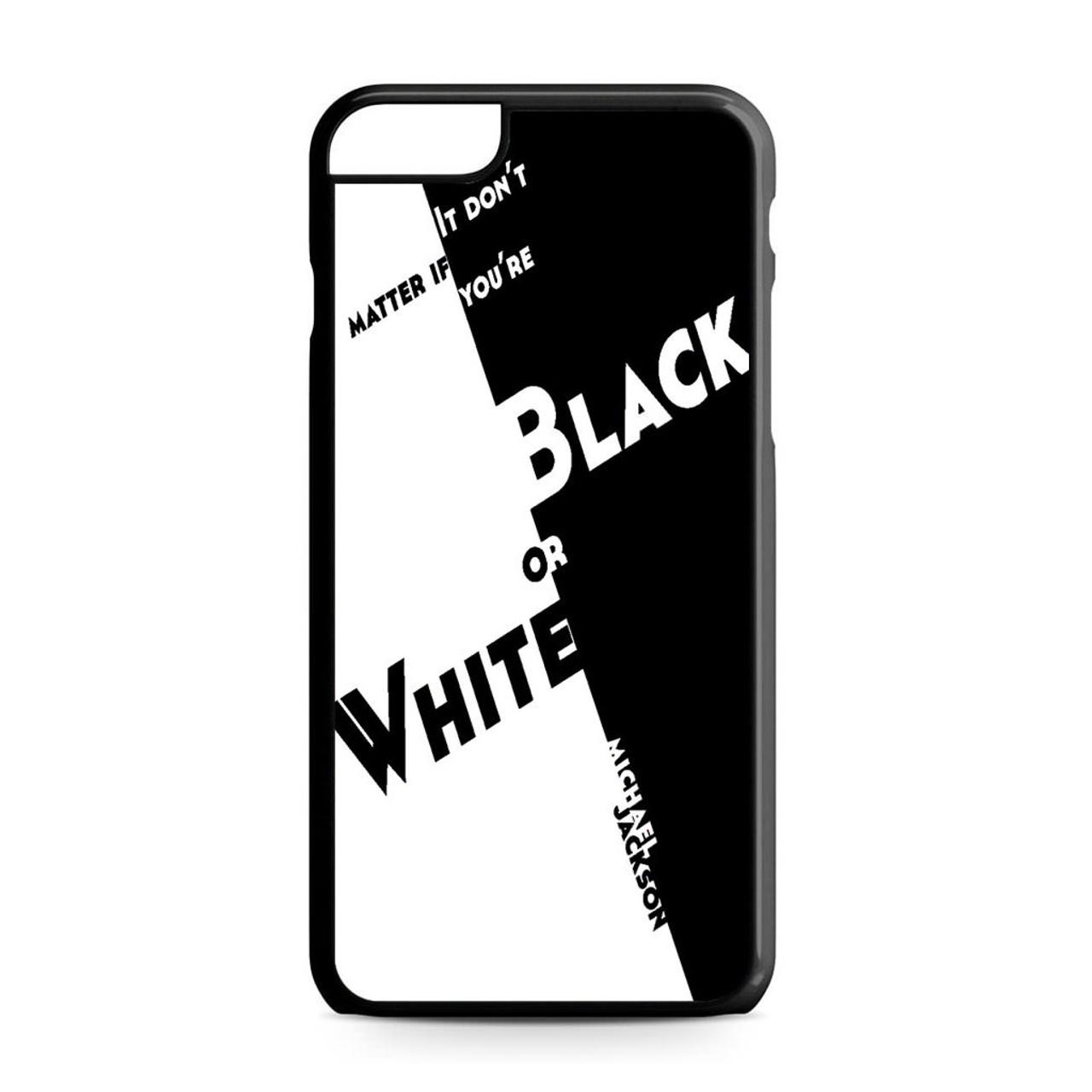 online store 8d1ea f4226 Black Or White Michael Jackson iPhone 6 Plus/6S Plus Case