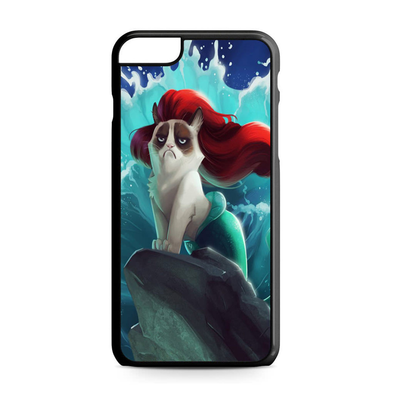 san francisco 31140 474e4 Grumpy Cat and Disney Little Mermaid iPhone 6 Plus/6S Plus Case