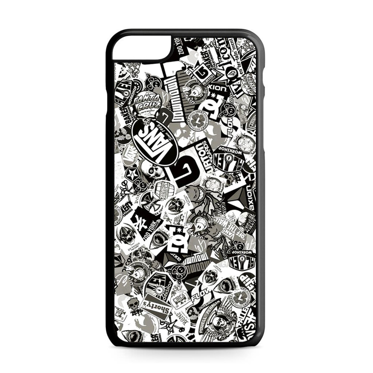 ff0879eae7c2 Stickerbomb Skate Dub Vans BW iPhone 6 Plus 6S Plus Case - CASESHUNTER
