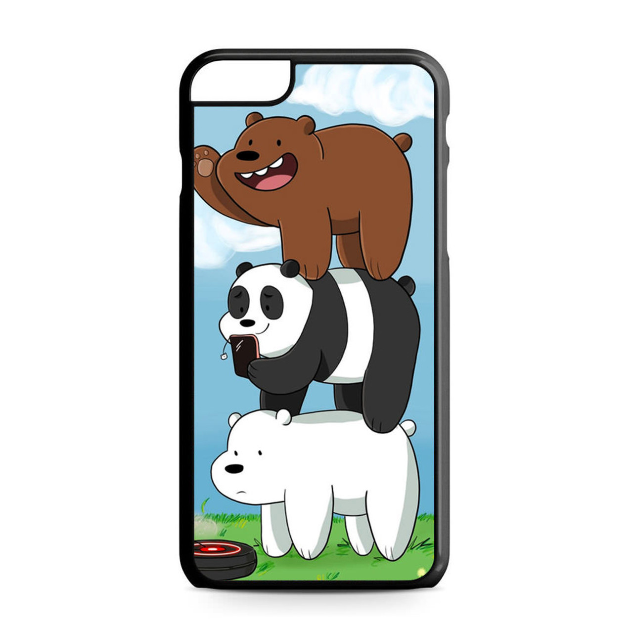 the latest 00eb8 28393 We Bare Bears Grizz iPhone 6 Plus/6S Plus Case