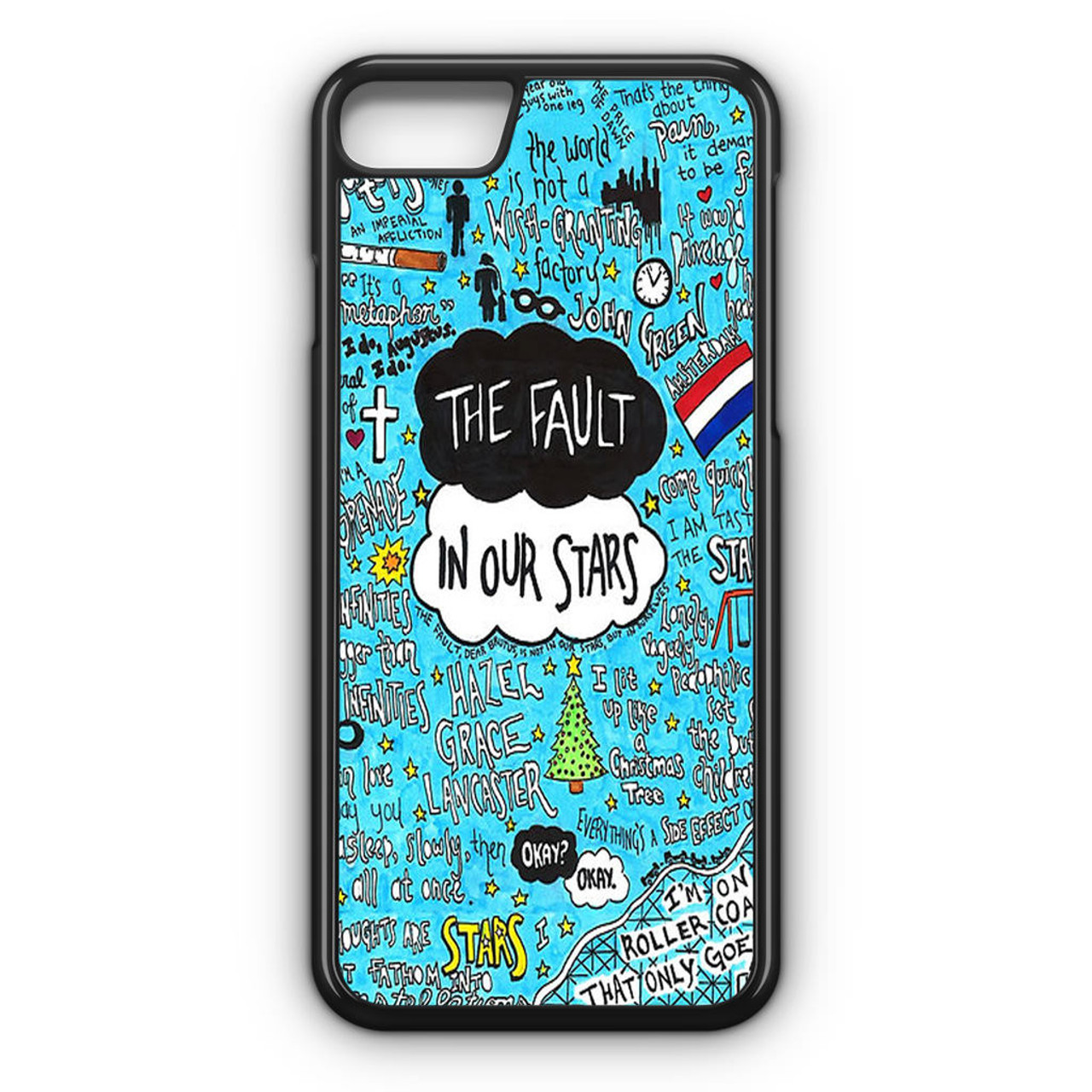 Image of: Words Caseshunter The Fault In Our Stars Quotes Flag Iphone Case Caseshunter