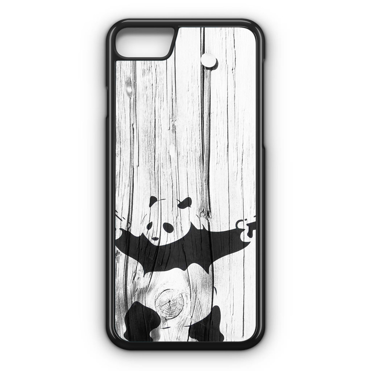 Banksy graffiti panda iphone 8 case caseshunter